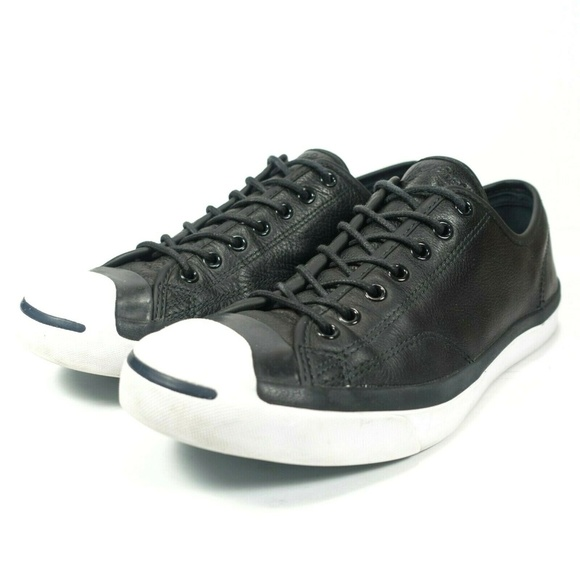 Converse Jack Purcell Low Top Leather Sneakers